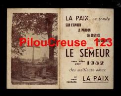 """87 Haute Vienne - CHATEAUPONSAC - """" Eglise Saint Thyrse Et La Croix De St Martial - Calendrier 1952 """" - Calendriers"""