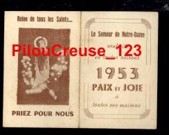 """CALENDRIER - 1953 - """" Le Semeur De Notre Dame  - Reine De Tous Les Saints ... """" - Petit Format : 1961-70"""