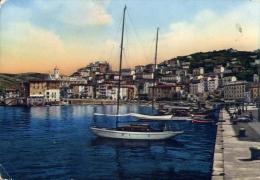 Paesaggistica - con porticciolo e paese - formato grande viaggiata