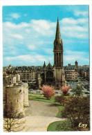 14 - Caen - L'église Saint Pierre, Vue Des Remparts Du Château - Editeur: Le Goubey N° 1029 - Caen