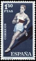 ESPAÑA SEGUNDO CENTENARIO NUEVO Nº 1311 ** 1,5P AZUL Y CASTAÑO DEPORTES - 1931-Aujourd'hui: II. République - ....Juan Carlos I