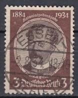 Deutsches Reich M 3 Pf. Kolonialforscher Lüderitz 1934 - Zentrisch Essen - Gebraucht