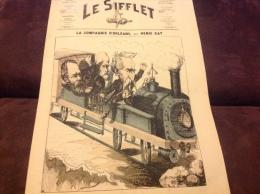 1872 Journal LE SIFFLET - LA COMPAGNIE D'ORL�ANS Par Henri KAT - TRAIN