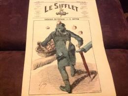 1872 Journal LE SIFFLET - RABAGAS EN VOYAGE  Par E COTTIN - SP�CIALIT� DE POMMES CUITES - Emile DE GIRARDIN