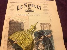 1872 Journal LE SIFFLET - PLUS D'INVALIDE Par Henri MEYER - MONT DE PI�T�