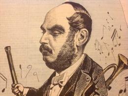 1872 Journal LE SIFFLET - ARBAN Par Henri MEYER - LE CHEF D'ORCHESTRE DES BALS DE L'OP�RA