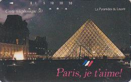 Télécarte Japon - Site FRANCE - PARIS - PYRAMIDE & MUSEE DU LOUVRE - Japan Phonecard - 1027 - Paisajes