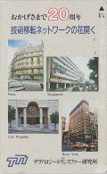 Télécarte Japon - Site Touristique - FRANCE PARIS NEW YORK LOS ANGELES USA & SINGAPORE - Japan Phonecard - 1037