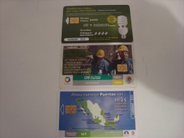MEXICO - 3 CHIP PHONECARDS  - LOW PRICE!!!