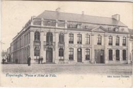 Poperinge - Poperinghe - Postkantoor en Stadhuis - geanimeerd - 1903 - uitg. Sansen-Decorte