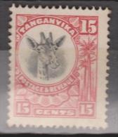 Tanganyika, 1922, SG 76, Mint Hinged (Wmk Mult Script Crown CA) - Kenya, Uganda & Tanganyika