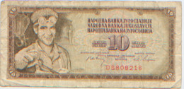 Billet De Banque, Banknote, Biglietto Di Banca, Bankbiljet, Narodna Banka Jugoslavije, Yougoslavie, 10 Dinara 1968 - Yougoslavie