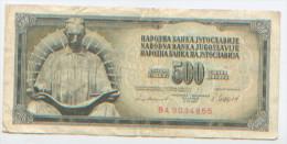 Billet De Banque, Banknote, Biglietto Di Banca, Bankbiljet, Narodna Banka Jugoslavije, Yougoslavie, 500 Dinara 1981 - Yougoslavie