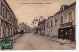 Grez-en-Bouère.. Animée.. Grande Rue.. Pharmacie.. Café.. Attelage.. Cheval - Sonstige Gemeinden