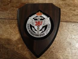 Écusson Sur Support De L´école Royale Des Sous/officiers De Dinant(unité Dissoute En 2007) - Militaria