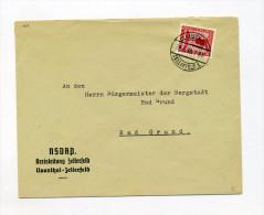 1938 3. Reich NSDAP Dienststellenbrief NSDAP Kreisleitung Clausthal Zellerfeld12 Pfg Parteidienstmarke D 150 - Germania