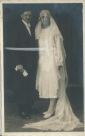 411Go  Lot De 2 Cartes Photos De Mariage Couple Noce - Marriages