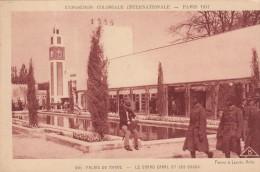 Cp , 75 , PARIS , Exposition Coloniale Internationale 1931 , Palais Du Maroc , Le Grand Canal Et Les Souks - Expositions