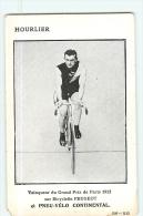 HOURLIER Léon, Vainqueur Du Grand Prix De Paris 1912 - En L' état -2 Scans - Cyclisme