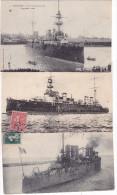 BATEAUX - Marine Militaire - Lot De 3 Cartes - Oorlog