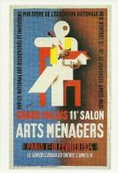 PUBLICITE 11 SALON ARTS MENAGERS 1934 AFFICHE NATHAN-GARAMOND BIBLIOTHEQUE FORNEY SERIE  NATHAN-GARAMOND N°3 - Pubblicitari
