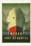 PUBLICITE EMPRUNT RECONSTRUCTION PORT NANTES 1948 AFFICHE NATHAN-GARAMOND BIBLIOTHEQUE FORNEY SERIE  NATHAN-GARAMOND N°5 - Publicité