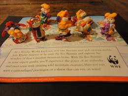 """44.Hanny Bunny's Lustige Ski Hasen 8 Figurines +livre « The Adventures Of Kinder Surprise"""" Edit. 1998 - Diddl & Ü-Eier"""