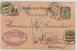 Bayern, 1895, GA Mit Porto Schweiz , S606 - Bavaria