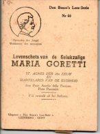 Levensverhaal  Maria Goretti Martelares Boekje Uitg.  Don Bosco Leesserie Nr 60  Blz 62 - Images Religieuses