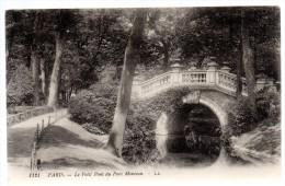 CP,75, PARIS, Le Petit Pont Du Parc Monceau, écrite, Voyagé, 1911 - Parks, Gardens
