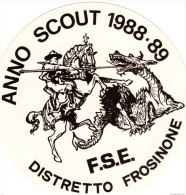 Adesivo SCOUT FSE,Anno Scout San Giorgio, 1988 - Scoutismo