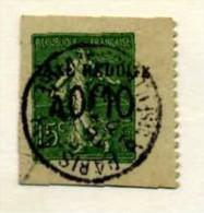 FRANCE - ENTIERS POSTAUX  1904 SEMEUSE LIGNEE - N° 130 Surchargé TAXE - Découpe De Carte - Kartenbriefe