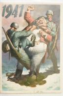 P.N.F. DOPOLAVORO FORZE ARMATE O.N.D. 1941 - DISEGNO GINO BOCCASILE  SPEDITA DA VENEZIA MESTRE X VERCELLI - Patriottiche