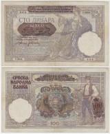 SERBIA WW II 100 Dinara 1941 - Servië