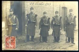 Cpa Carte Photo Du 60 Compiègne La Garde à La Mélinite Le 28 Octobre 1907   HIV5 - Compiegne