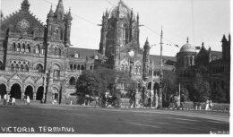 INDIA - Victoria Terminus (Bombay?) - RP - India