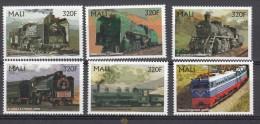 Treinen, Trains, Locomotive,Eisenbahn,  Trenes: Mali 1996 Mi Nr 1538 - 1543 - Treinen