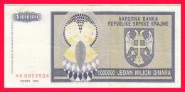 KNIN 1000000 DIN 1993 - Croatie