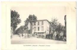 Dépt 34 - SAINT-THIBÉRY - Place Des 4 Avenues (animée) - France