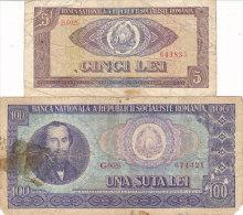 Romania - 5 & 100 Lei - Rumania