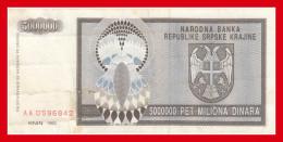 KNIN  5000000 DIN 1993 - Croatie