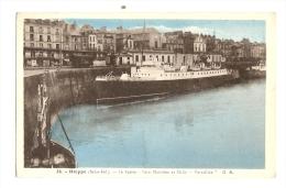 """Cp, 76, Dieppe, Le Bassin, Gare Maritime Et Malle """"Versailles"""" - Dieppe"""