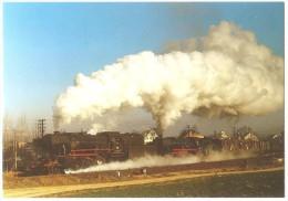 TRAIN Allemagne - EISENBAHN Deutschland - SENNFELD - Dampf-Lokomotiven 023 006-0 + 052 789-5 - Trains