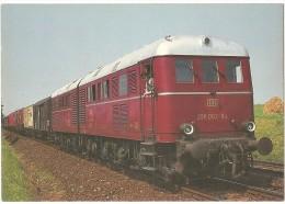 TRAIN Allemagne - EISENBAHN Deutschland - SCHWEINFURT -Lokomotive Double - Diesel-Elektro Doppellokomotive 288 002-9 A/b - Trains