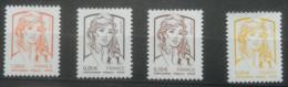 France  -  Marianne De La Jeunesse  - 1.00€; 0.01€; 0.05€; 0.10€   Lettre Prioritaire - 2013-... Marianne De Ciappa-Kawena