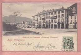 OUDE POSTKAART ZWITSERLAND SCHWEIZ  SUISSE  SVIZZERA    LOCARNO HOTEL DE LA COURONNE