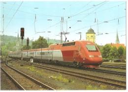 """TRAIN Allemagne - EISENBAHN Deutschland - OCHSENFURT - TGV-PBKA N° 4341 + 4331 """"THALYS"""" - Gares - Avec Trains"""
