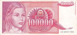Yougoslavie - 100 000 Dinar Dinara (1989) - Yougoslavie