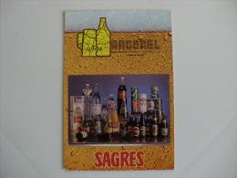 Drink Beer Sagres  Portuguese Pocket Calendar 1989