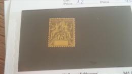 LOT 233051 TIMBRE DE COLONIE COTE IVOIRE NEUF(*) N�12 VALEUR 40 EUROS
